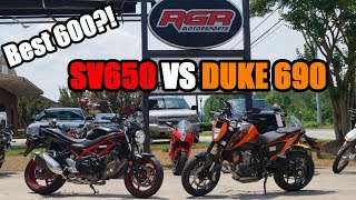 7. First ride KTM 690 VS Suzuki SV650