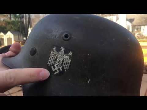 Different Types Of WW2 German Heer Helmets.
