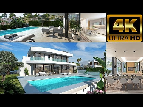 Новая вилла Хайтек с видом на море в Морайре. New Hi-tech villa with sea views in Moraira