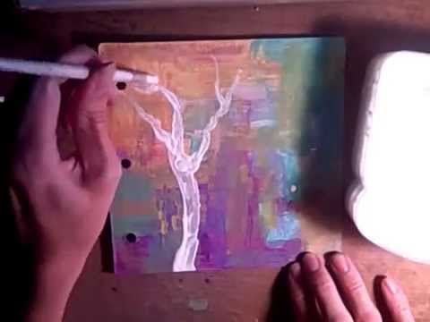 Peace Tree Mixed Media Art Journal  w/ Texture Paste