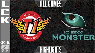 Video SKT vs KDM Highlights ALL GAMES | LCK Week 5 Spring 2018 W5D1 | SK Telecom T1 vs Kongdoo Monster MP3, 3GP, MP4, WEBM, AVI, FLV Juli 2018