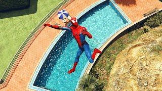 GTA Epic Spiderman ragdolls vol.8 [Euphoria physics Funny moments]