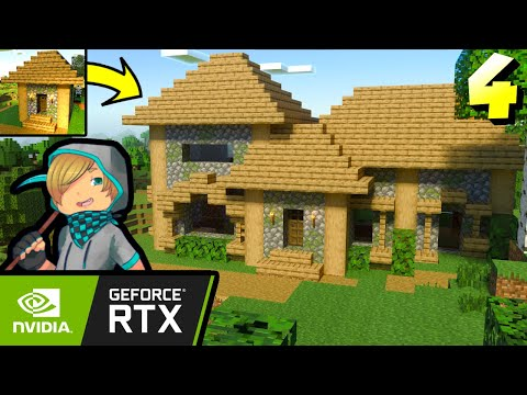 Let's Play Minecraft RTX Episode 4 | Starter House Transformation