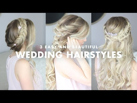 Short hair styles - 3 Beautiful Wedding Hairstyles