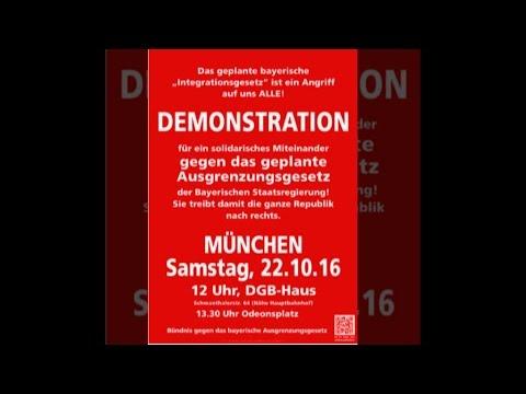 Demo gegen das bayr. Ausgrenzungsgesetz – München, 22. Oktober 2016