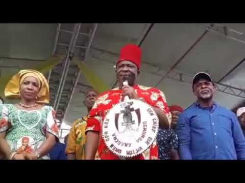 Video: Senator Victor Umeh's Speech That Shook Abia State.  Dr Alex Otti Is The Man We Are Proud Of