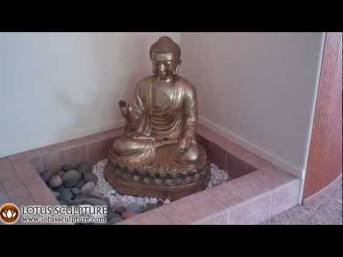 SOLD Golden Japanese Buddha Statue 36
