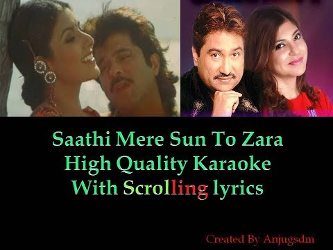 Video Saathi Mere Sun To Jara || Mr. Bechara  || karaoke with scrolling lyrics (High Quality) download in MP3, 3GP, MP4, WEBM, AVI, FLV January 2017