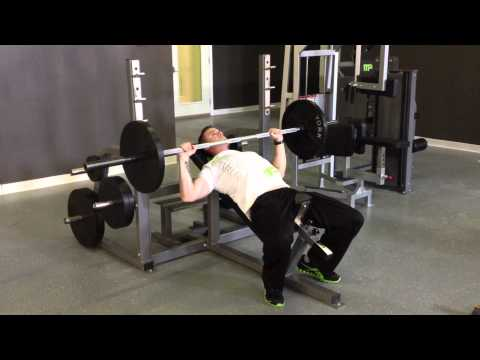 Incline Barbell Bench Press - 5 COUNT METHOD