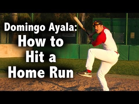 Hit - 4 time home run champion, Domingo Ayala, teaches how to properly hit a home run.