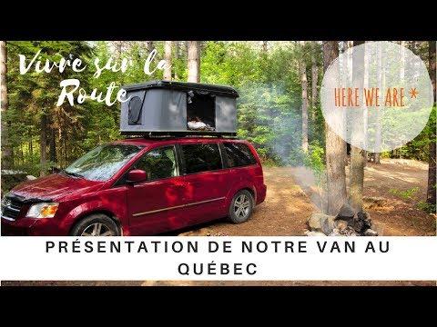 VAN TOUR - Présentation de notre van au Québec  -  Une famille nomade en camping car