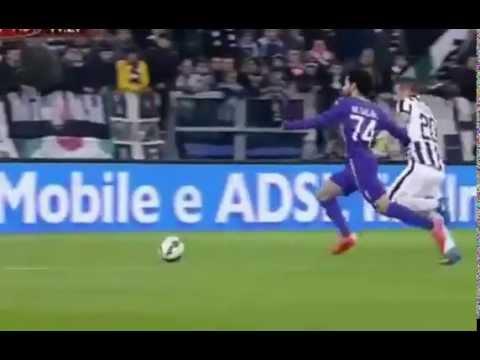 salah galoppata impressionante e gol juventus-fiorentina