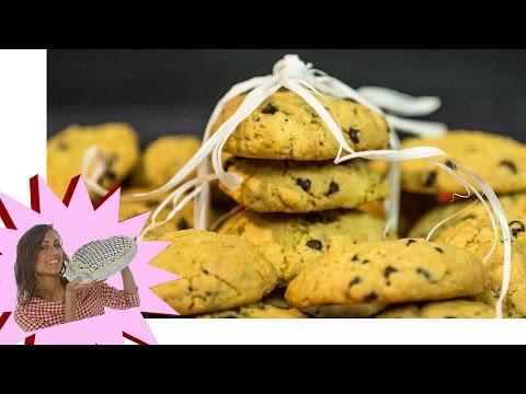 video ricetta: cookies (biscotti con gocce di cioccolato)