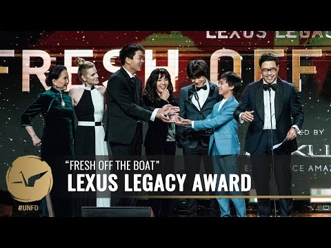 """The Cast of """"Fresh Off the Boat"""" Wins the Lexus Legacy Award At 18th Unforgettable Gala"""