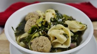 Crock-Pot Italian Wedding Soup with Three Cheese Tortellini  slow cooker recipe  August Cooking Crock Pot Slow Cooker...