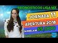 Pron Sticos Jornada 11 Liga Mx Apertura 2018  Predicciones Liga Mx  Quiniela 2018
