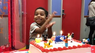 LJ's 4th Birthday Party at Chuck E Cheese's