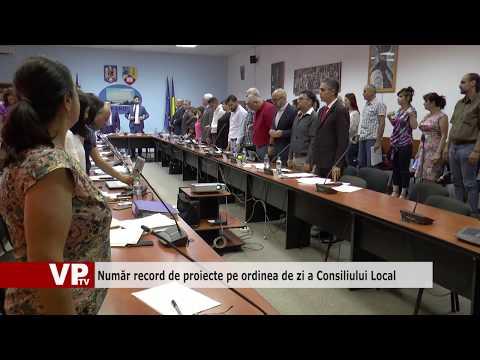 Număr record de proiecte pe ordinea de zi a Consiliului Local