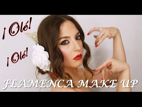 FLAMENCA MAKE UP / MAQUILLAJE DE FLAMENCA (ferias A La Vista) | Eunice Tiebow