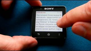 Reader for SmartWatch 2 YouTube video