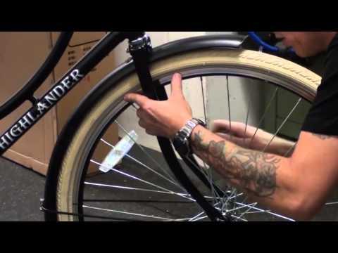 Hollandrad Fahrrad Retro Montage Aufbau Video (holländisch)