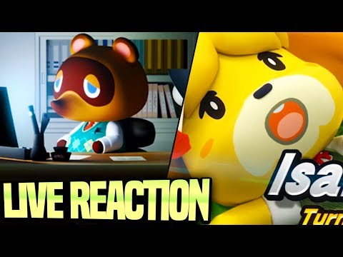ISABELLE ANNOUNCED FOR SMASH ULTIMATE + NEW ANIMAL CROSSING SWITCH! NINTENDO DIRECT LIVE REACTION! (видео)