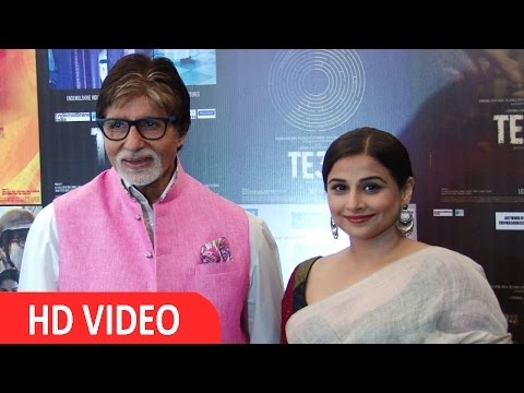 Amitabh  Bachchan & Vidya Balan At Song Launch Of Film TE3N