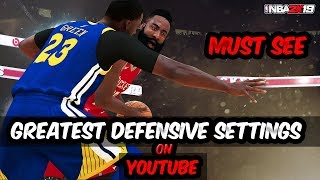 GREATEST DEFENSIVE SETTINGS ON YOUTUBE - NBA 2K19 DEFENSE TUTORIAL