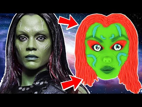 GUARDIANS OF THE GALAXY  How To Make Baby Gamora Play Doh Crafts  The Toy Club - Fun For Kids!