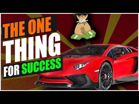The One Thing You Need To Become A Succesful Entrepreneur