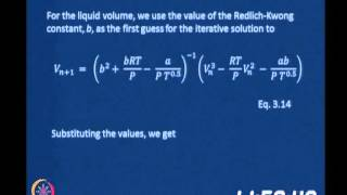 Mod-05 Lec-30 Clausius - Clayperon Equation(cont.,)vapour-Liquid Equilibrium