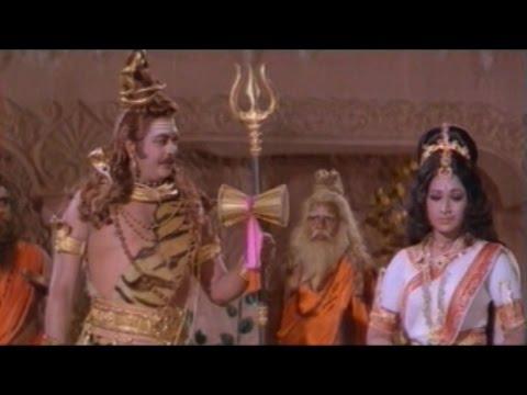 Sree Vinayaka Vijayamu Movie || Lord Shiva Give Elephant Head to Lord Vinayaka || Krishnam Raju