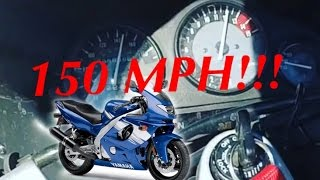 2. Top speed run on the yzf600! and wheelies!