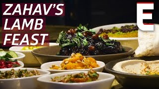 From Butcher Block to Israeli Feast: Roasted Lamb Shoulder at Zahav by Eater