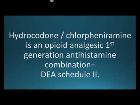How to pronounce hydrocodone chlorpheniramine (Tussionex) (Memorizing Pharmacology Flashcard)