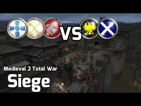 Medieval 2 Total War Online Battle #201 (3vs2 Siege) - The Highest Level Of Glory