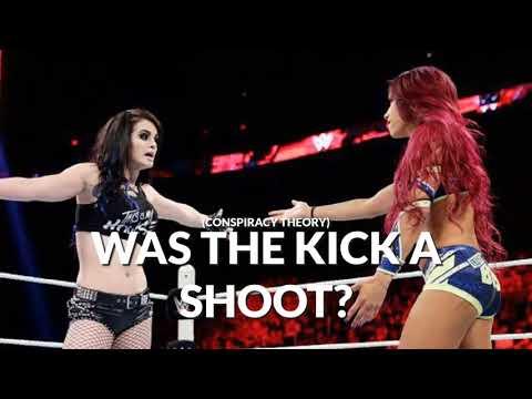 Did WWE get Sasha to shoot kick Paige?