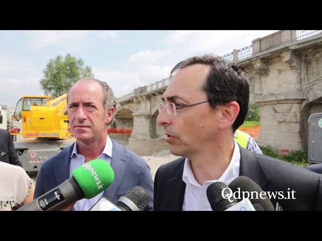 Susegana - Luca Zaia in visita con Anas al cantiere del ponte sul Piave
