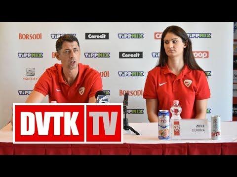 Sajtótájékoztató a Cegléd - Aluinvent DVTK mérkőzés előtt