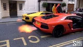 Dual Flamethrower - Epic Aventador Rev Battle