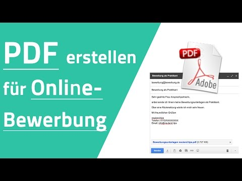 PDF Datei erstellen für Online-Bewerbung