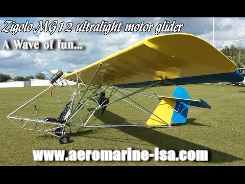 ultralight sailplane - http://www.sportaviationmagazine.com - Zigolo MG 12 - Dan Johnson gives us a quick look at the Zigolo MG12, motorized ultralight glider from Aeromarine LSA d...