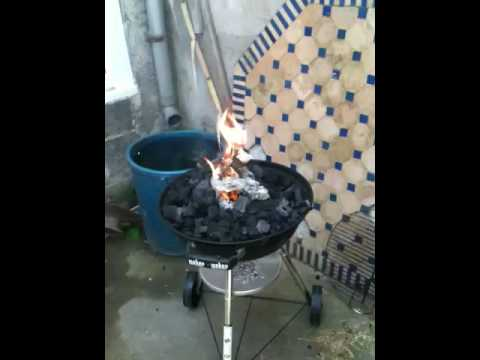 comment demarrer barbecue weber