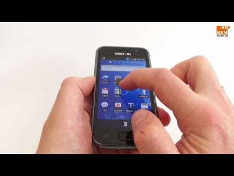 Samsung Galaxy S - prezentacja home screen