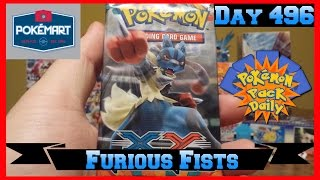 Pokemon Pack Daily Furious Fists Booster Opening Day 496 - Featuring PokeMart Clerk by ThePokeCapital