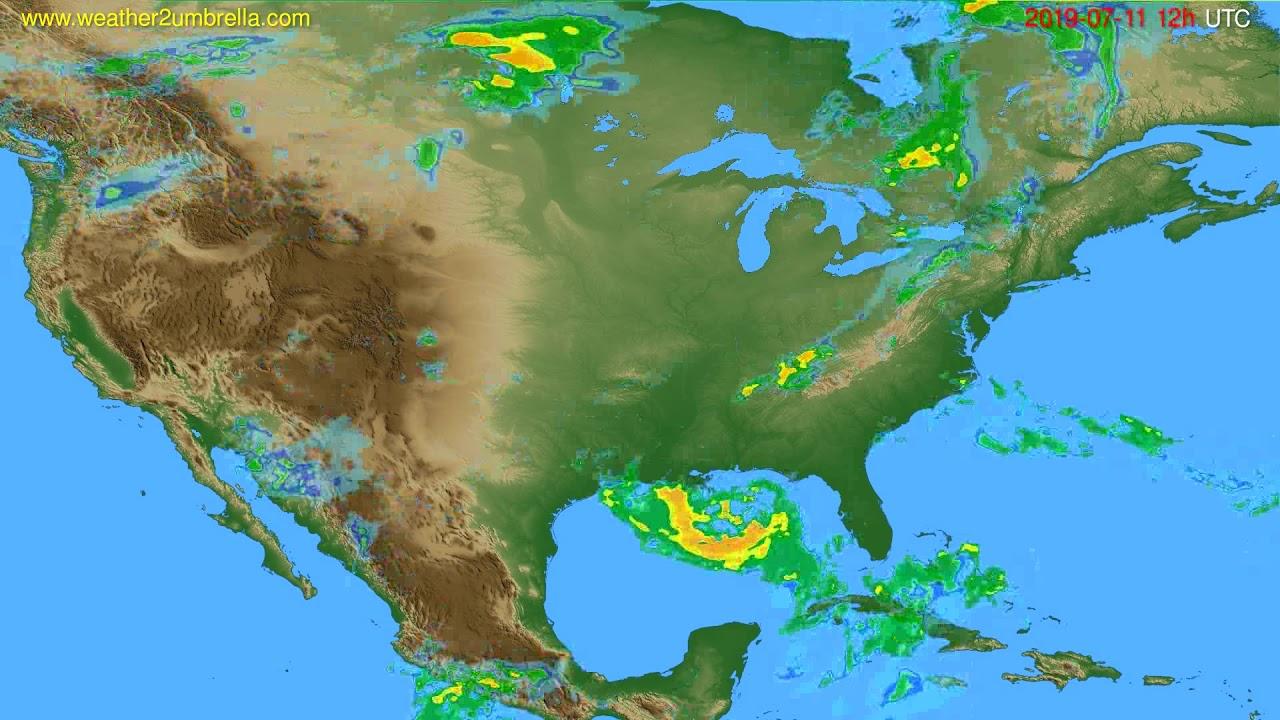 Radar forecast USA & Canada // modelrun: 00h UTC 2019-07-11