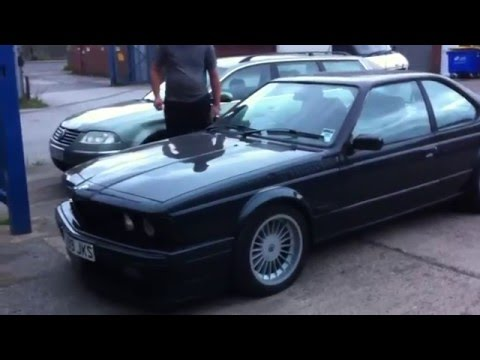1987 BMW e24 635csi M30B34 manual black alpina front splitter and wheels