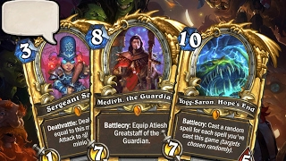 All Hearthstone Legendary Play Sounds! (Entrance Quotes  Sound Effects  Music)Every Legendary Golden Card animation in Hearthstone!TIMESTAMPSMean Streets of Gadgetzan 0:00Classic: 1:35Curse of Naxxramas: 5:59 Goblins Vs Gnomes: 6:58Blackrock Mountain: 9:16The Grand Tournament: 10:52The League of Explorers: 13:16 The Whispers of the Old Gods: 14:07