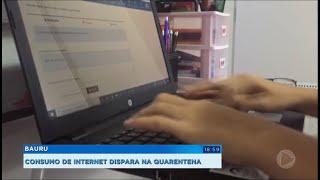 Aumenta o consumo de internet na quarentena.