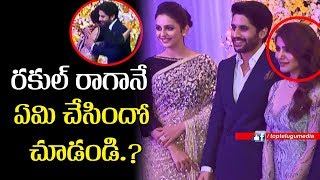 Video Rakul Preet Singh at Chay Sam Wedding Reception | Manchu Lakshmi | Rakul Preet | Top Telugu Media MP3, 3GP, MP4, WEBM, AVI, FLV November 2017